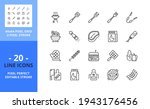 line icons about barbecue....   Shutterstock .eps vector #1943176456