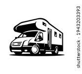 rv camper motor home vector...   Shutterstock .eps vector #1943203393