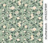 trendy seamless vector floral...   Shutterstock .eps vector #1943229589