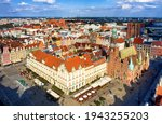 Aerial View Of Old Town Wroclaw ...