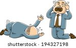 a carton businessman sobs and... | Shutterstock .eps vector #194327198