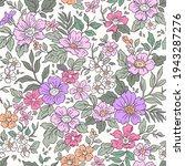 vintage seamless floral pattern....   Shutterstock .eps vector #1943287276