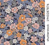 vintage seamless floral pattern....   Shutterstock .eps vector #1943287876