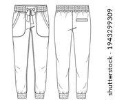 women jogger pant vector... | Shutterstock .eps vector #1943299309