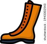 icon of hiking boot. editable...