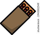 icon of match box. editable...