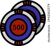 casino chips icon. editable...