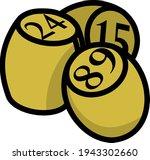 bingo kegs icon. editable bold...