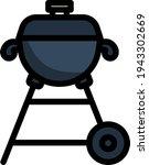 icon of barbecue. editable bold ...