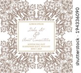 wedding invitation cards with... | Shutterstock . vector #194336090