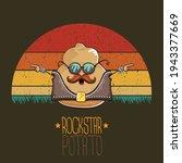 rock star potato cartoon...   Shutterstock .eps vector #1943377669