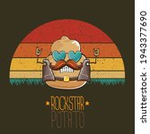 rock star potato cartoon... | Shutterstock .eps vector #1943377690
