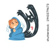 childhood fear with scary... | Shutterstock .eps vector #1943379673