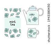 peppermint tea packaging design ... | Shutterstock .eps vector #1943380450
