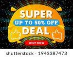 super deal modern horizontal...   Shutterstock .eps vector #1943387473