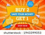 buy 2 get 1 modern horizontal...   Shutterstock .eps vector #1943399053