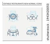restaurant new normal line... | Shutterstock .eps vector #1943420053