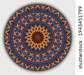 Ethnic Bright Round Mandala...