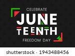 juneteenth freedom day banner.... | Shutterstock .eps vector #1943488456