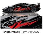 car wrap graphic racing... | Shutterstock .eps vector #1943492029