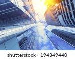 modern glass building in... | Shutterstock . vector #194349440