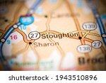 Stoughton. Massachusetts. USA on a geography map