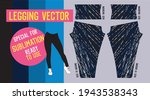 fitness leggings pants vector... | Shutterstock .eps vector #1943538343