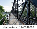 Pathway On A Metal Bridge Next...