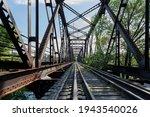 Railroad Inside Of A Metal...