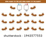 left or right with cute ant.... | Shutterstock .eps vector #1943577553