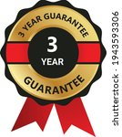 3 year guarantee badge ... | Shutterstock .eps vector #1943593306