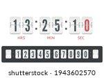 white scoreboard countdown...