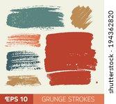 vector watercolor ink spot set. ... | Shutterstock .eps vector #194362820