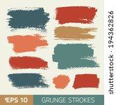 vector watercolor ink spot set. ... | Shutterstock .eps vector #194362826
