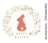 holiday card with rabbit ...   Shutterstock .eps vector #1943660383