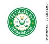 golf professional logo design... | Shutterstock .eps vector #1943661250