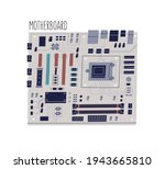 Computer Motherboard Isolated...