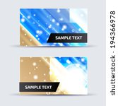 abstract card template for... | Shutterstock .eps vector #194366978
