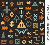 vector set of geometrical... | Shutterstock .eps vector #194367650