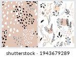 hand drawn irregular floral... | Shutterstock .eps vector #1943679289