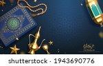 3d islamic holiday banner. top... | Shutterstock .eps vector #1943690776