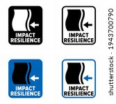 """impact resilience"" vector... | Shutterstock .eps vector #1943700790"