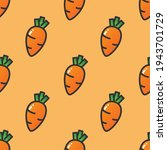 vector colorful cute carrots... | Shutterstock .eps vector #1943701729