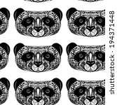 panda on white background hand... | Shutterstock .eps vector #194371448