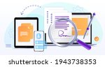 electronic contract or digital... | Shutterstock .eps vector #1943738353
