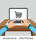 online shopping concept with... | Shutterstock . vector #1943742166