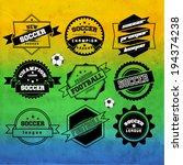 creative soccer vector design | Shutterstock .eps vector #194374238