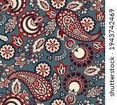 paisley seamless vector pattern.... | Shutterstock .eps vector #1943742469