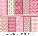 set of  abstract vector paper... | Shutterstock .eps vector #194375378