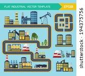 modern industrial flat... | Shutterstock .eps vector #194375756